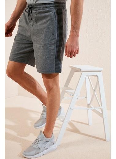 Buratti Buratti Pamuklu Belden Bağlamalı Slim Fit Short Erkek Short 568R165 Antrasit